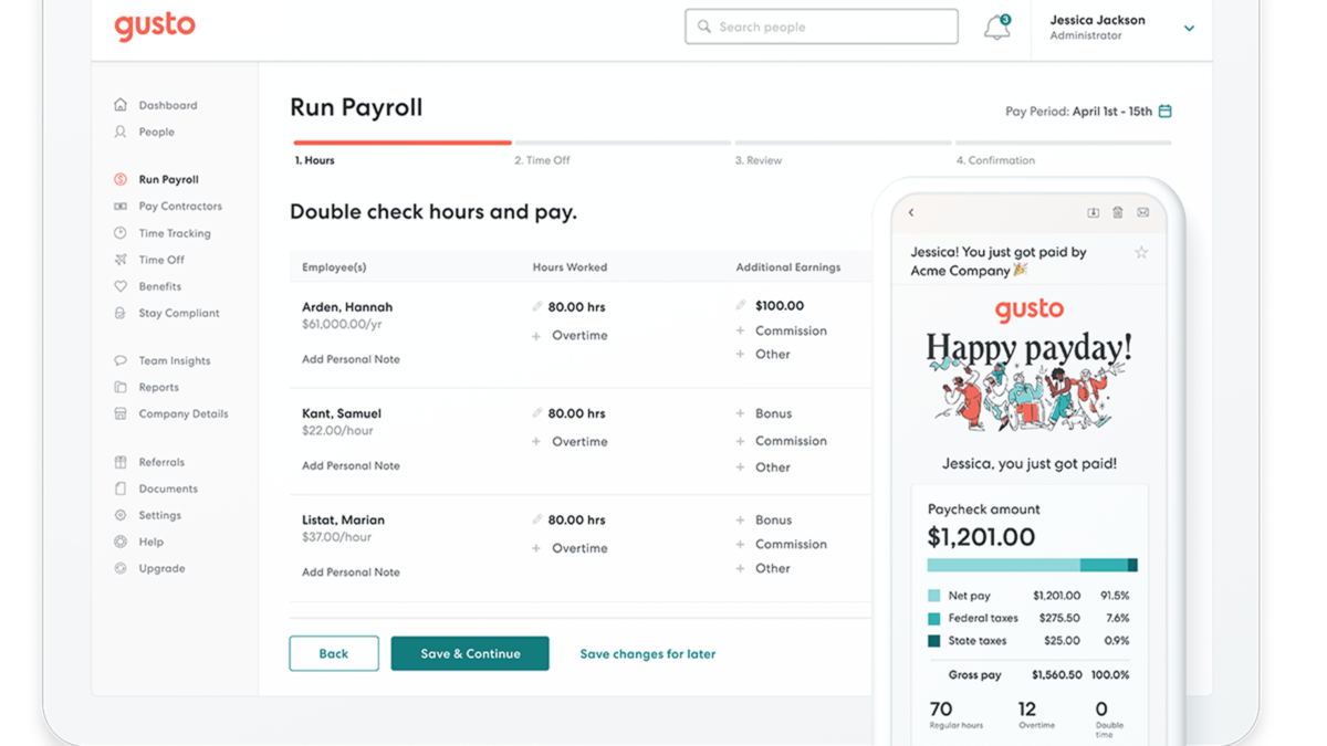 2019 best payroll software for small businesses Gusto